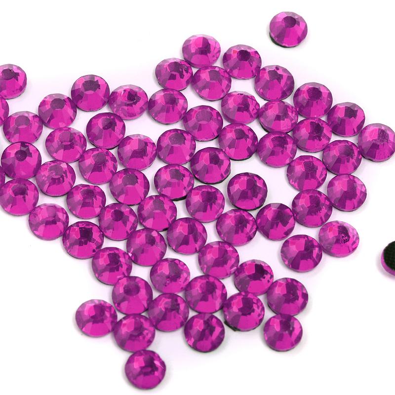 Стразы клеевые IDEAL прозрачные цвет AMETHYST 144 штуки в упаковке разные диаметры (IDEAL.AMETHYST.SS)