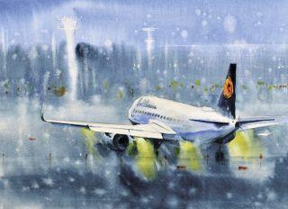 Postcard Airplane