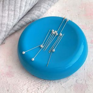 Игольница магнитная 10,5 см., голубая
