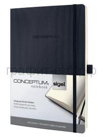 Книжка записная SIGEL CONCEPTUM А4 194стр.в точку мягкая обл. черная СО308