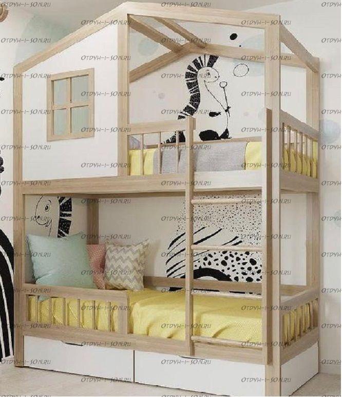 Двухъярусная кровать Домик Roof №6