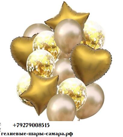 Цветные  гелиевые шары фонтан 1_26