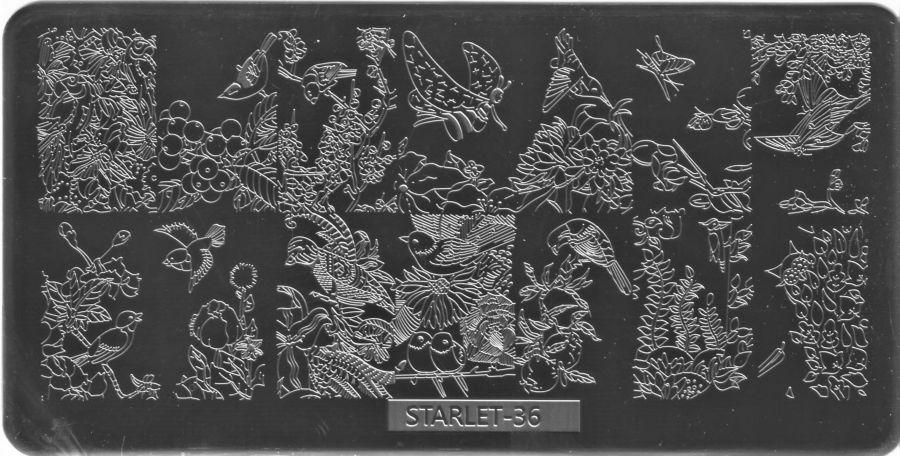 Стемпинг плитка высшее качество  STARLET-36