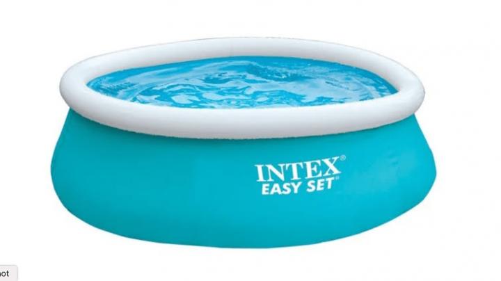 Надувной бассейн Intex круглый Easy Set 183 х 183 х 51 см - компактный и простой в установке бассейн для детей и взрослых.