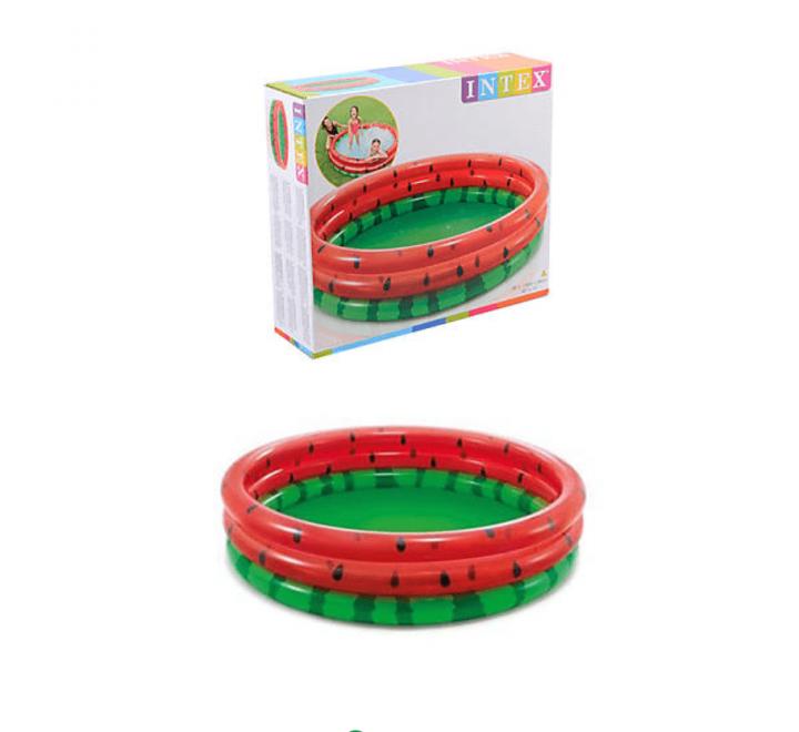 Детский надувной бассейн Арбуз INTEX 58448  38 х 168 х 168 см - компактный и простой в установке для детей от 2 лет с красочным дизайном.