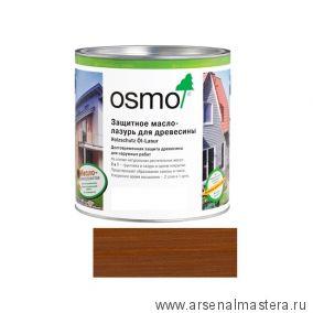 Защитное масло-лазурь для древесины для наружных работ OSMO Holzschutz Ol-Lasur 708 Тик 0,75 л