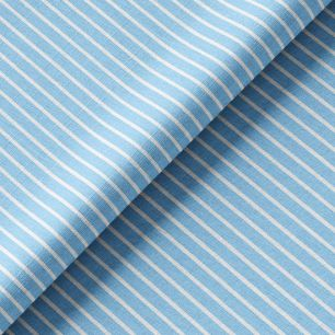 Трикотаж - Узкая голубая полоска 50х40