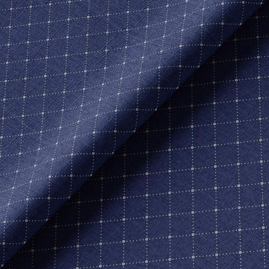 Хлопок Перкаль Винтаж ромбы на синем 50х37