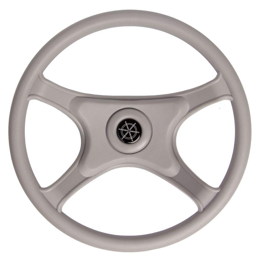 Колесо рулевое ABSпластик 330мм серое