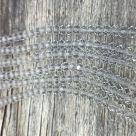 фото Бусины граненые Рондель (стекло) на нити цвет № 21 прозрачный бесцветный Разные размеры LSR-21