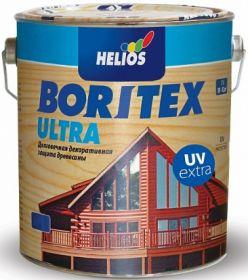 Лазурное Покрытие Boritex Ultra UV Extra 0.75л c Воском для Внутренних и Наружных Работ / Боритекс Ультра УВ Экстра