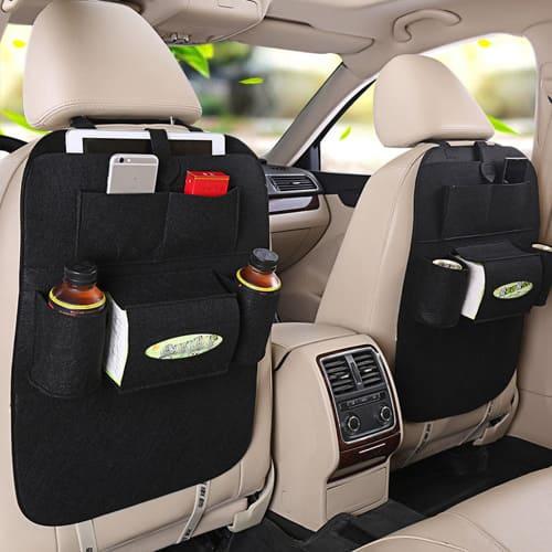 Органайзер для спинки сиденья в авто Vehicle mounted storage bag, чёрный.
