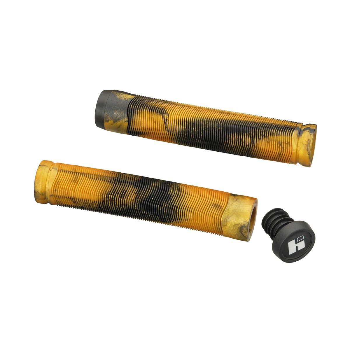 Грипсы HIPE H4 Duo 155 мм черно-желтые