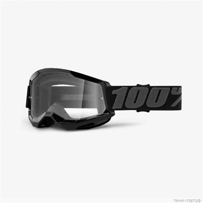 Очки 100% Strata 2 Goggle Black  Clear Lens