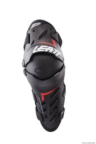 Наколенники Leatt Dual Axis Knee & Shin Guard Black/Red 2021