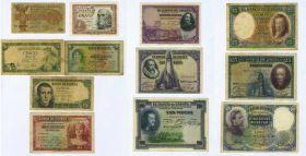 Набор ИСПАНИЯ (старая Европа) 1920-1950х года, 12 банкнот