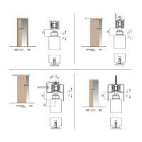 Krona Koblenz 0500-50 ABS для двери до 50 кг размеры
