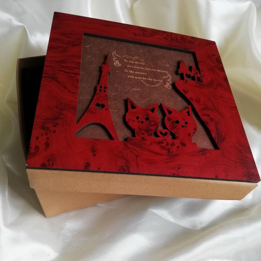 Подарочная коробка для набора с кофе