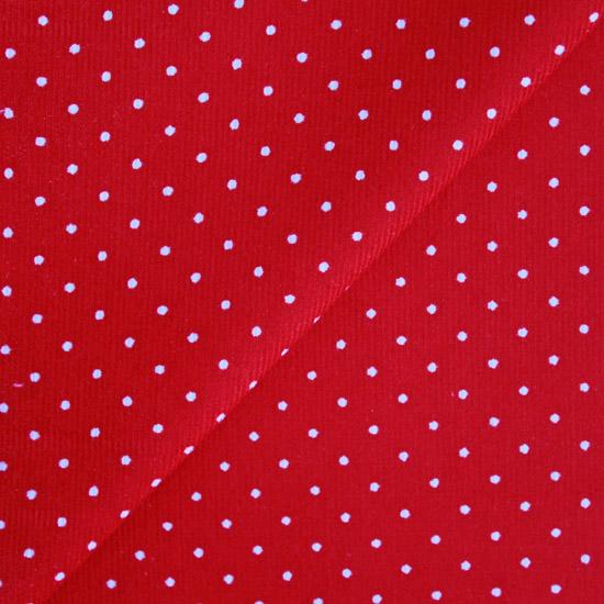 Микровельвет точка на красном 50*36 см.