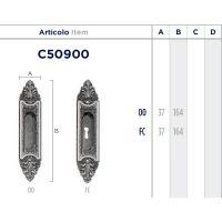 Ручка Enrico Cassina C50900 для раздвижных дверей схема