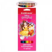 """Цветные карандаши шестигранные ErichKrause """"Принцессы Disney. Королевский бал"""" 12 цв. (арт. 43145)"""