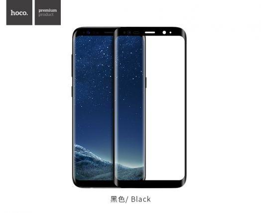 Изогнутое защитное стекло HOCO для Galaxy S8, черное