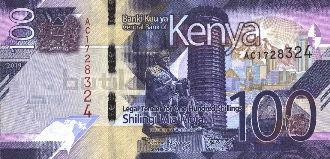 100 шиллингов 2019 Кения