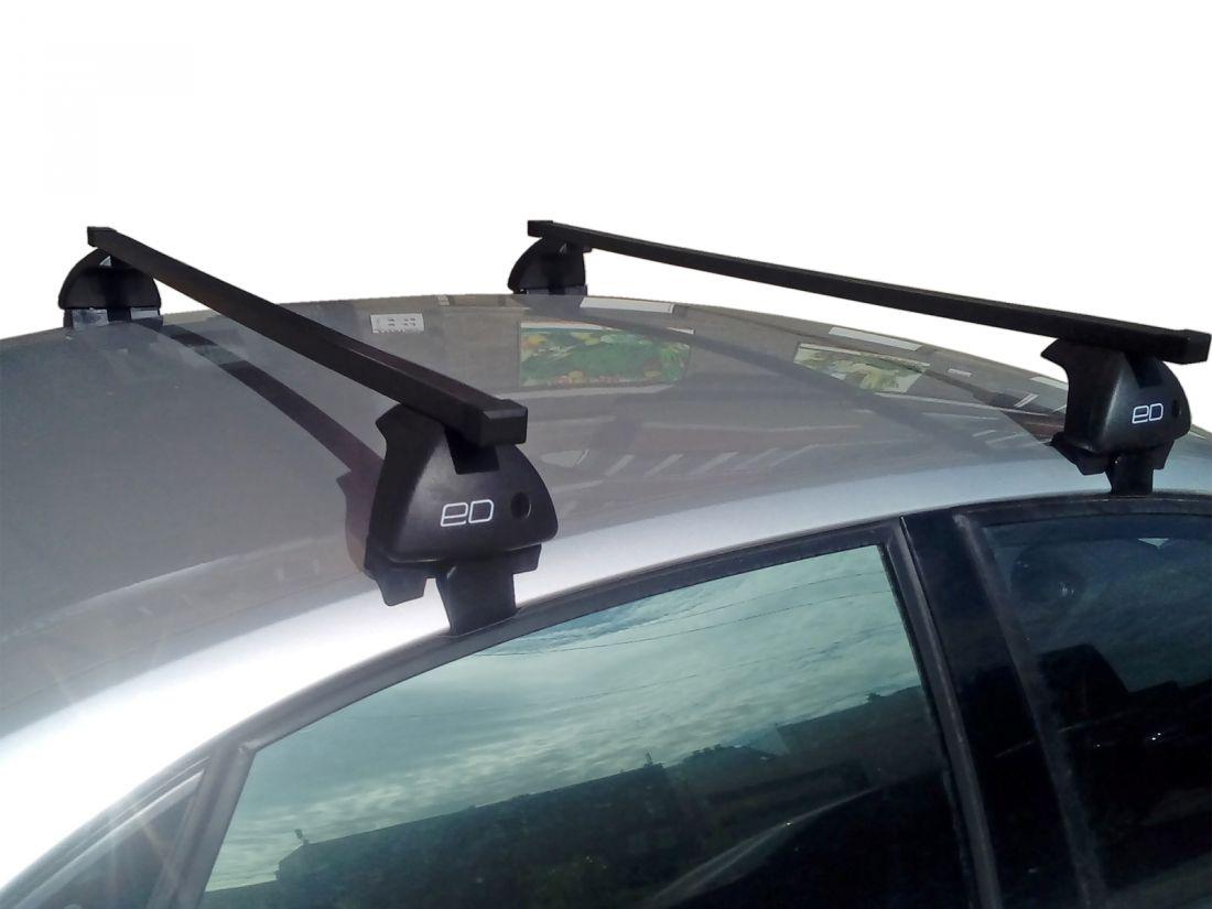 Багажник на крышу Volkswagen Polo 2020-..., Евродеталь, стальные прямоугольные дуги