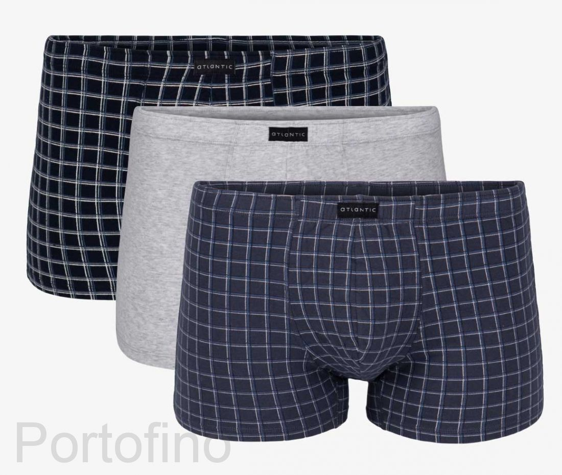 3MH-007 Трусы мужские шорты Color check - набор 3 штуки