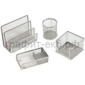 Набор настольный Berlingo Steel&Style 4 предмета металл серебристый BMs_41401