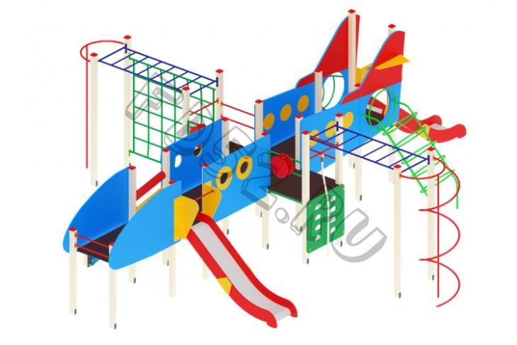 Детский игровой комплекс Аэроплан  Горка 1200   10010х8350х3500