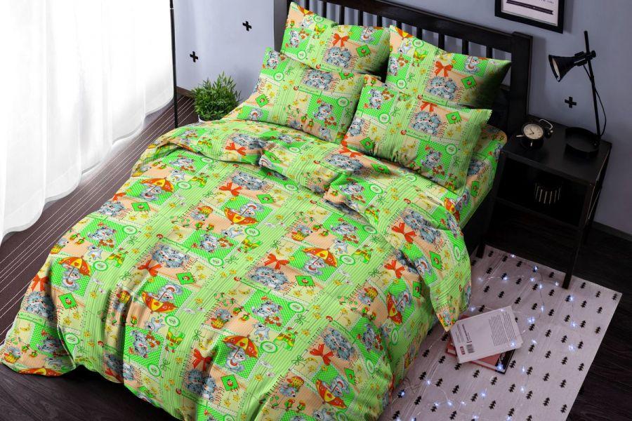 Бязь 1.5 спальный [зеленый] Малыши постельное белье [распродажа]