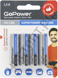 GoPower LR6 AA BL4 Alkaline 1.5V (48)