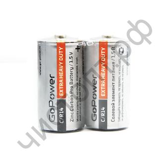 GoPower R14 C Shrink 2 Heavy Duty 1.5V (24)