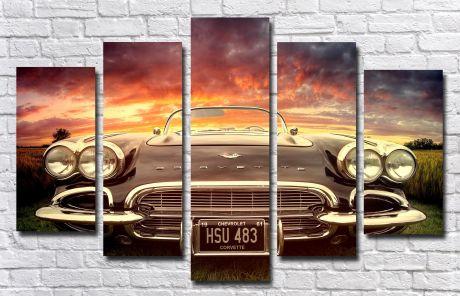 Модульная картина Авто 55