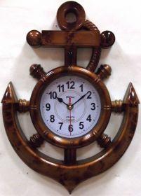 Часы настенные Штурвал с Якорем