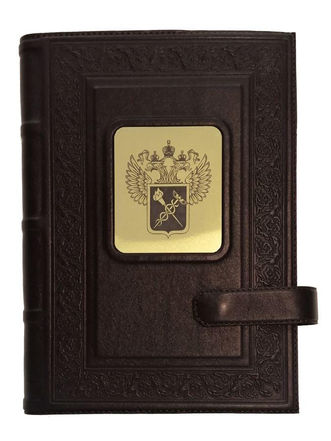 Ежедневник А5 «Герб таможни» Коричневый
