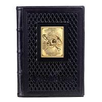 Ежедневник А5 «Шахтеру-5» с накладкой покрытой золотом 999 пробы