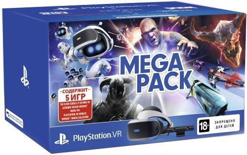 Очки виртуальной реальности Sony PlayStation VR (CUH-ZVR2) + Камера PS V2 + 5 игр (PS4)