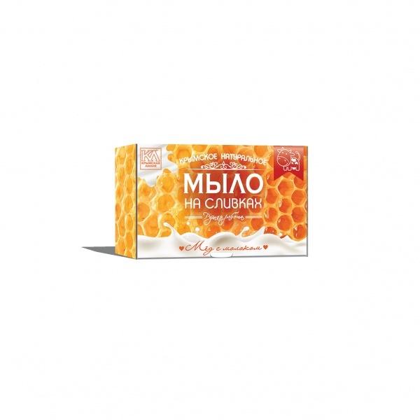Крымское натуральное мыло Мёд с молоком Крымская Линия 82 гр