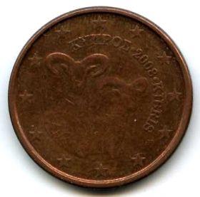 Кипр 5 евроцентов 2008
