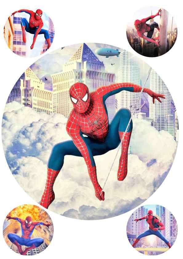 Вафельная картинка Чел паук  (10)