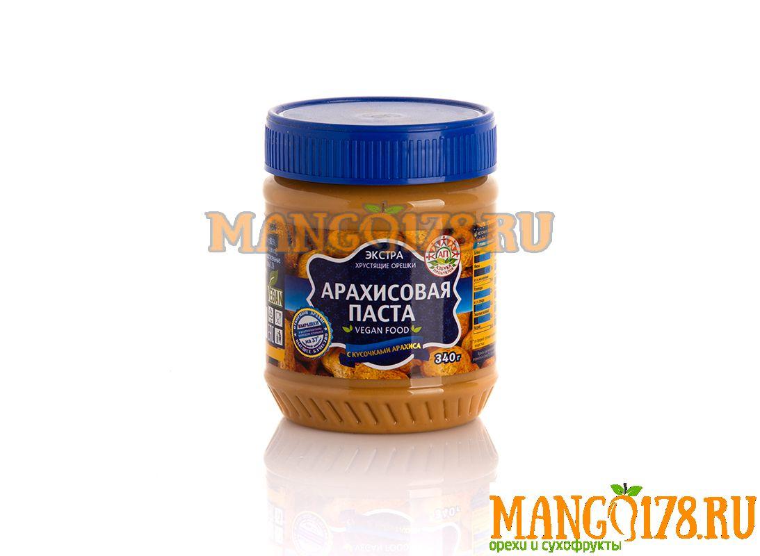Арахисовая паста с кусочками арахиса 340 гр