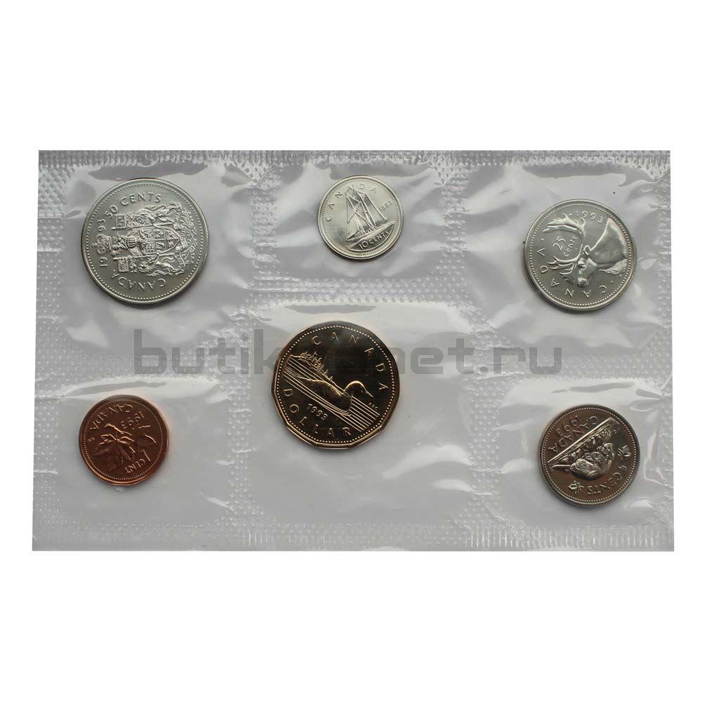 Официальный годовой набор монет 1993 Канада  (6 монет в запайке)