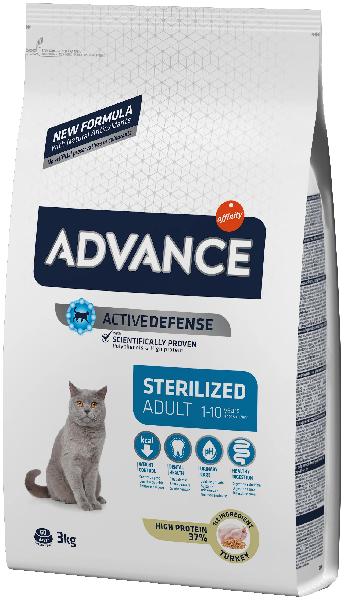 Сухой корм для стерилизованных кошек Advance Sterilized с индейкой и ячменём 3 кг