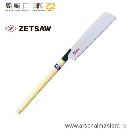 Пила японская поперечное пиление Kataba Cross H-265 265 мм 14tpi 0,6 мм деревянная рукоять ZetSaw 15003