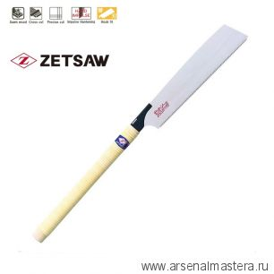 Акция! Минус 15% Пила японская поперечное пиление Kataba Cross H-265 265 мм 14tpi 0,6 мм деревянная рукоять ZetSaw 15003