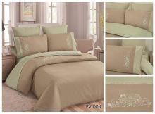 Постельное белье Перкаль с вышивкой евро Арт.PV-004-3