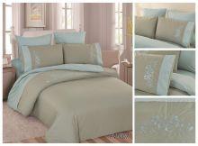 Комплект постельного белья Перкаль с вышивкой  евро  Арт.PV-007-3