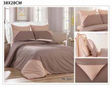 Комплект постельного белья Перкаль с кружевом  евро  Арт.PK-001-3